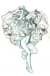 Harley Quinn Book 1 Cover Pencils by TerryDodson