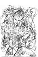 JLA #22 Cover Pencils by TerryDodson