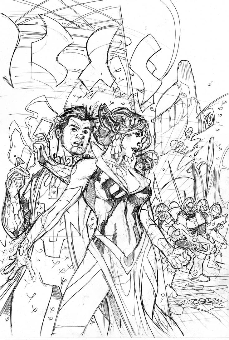 Mr. and Mrs. X #4 Cover Pencils by TerryDodson