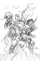 Wonder Woman 59 Cover Pencils by TerryDodson