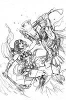 Wonder Woman #62 Cover Pencils by TerryDodson