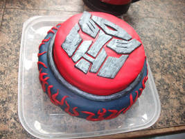 transformers cake by sillylittlefaery1982