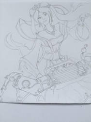 Guqin Sona, League of legends by yuzepoes
