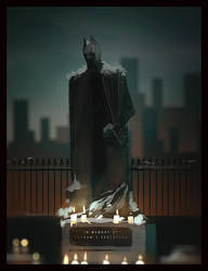 in memory of the protector of gotham city by TheFearMaster