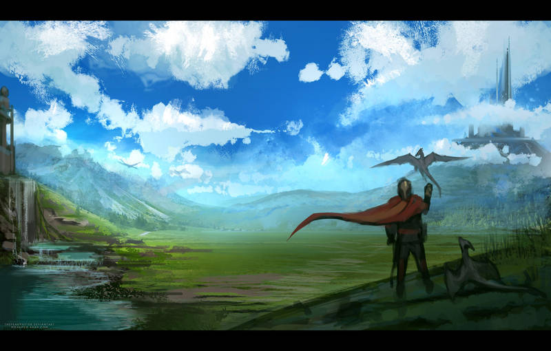 Daily painting : Dragon trainer by TheFearMaster