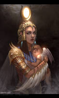 Isis and Horus by TheFearMaster