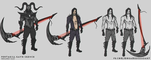 Pentakill Kayn sketches by TheFearMaster