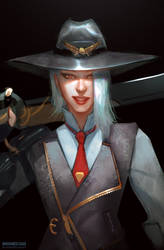 Ashe sketch by TheFearMaster