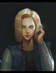 Android 18 by TheFearMaster