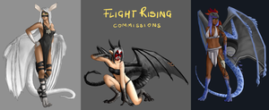 Flight Rising - Commissions [2-4] by Zwiezda