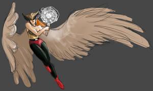 Hawkgirl [WIP] by Zwiezda