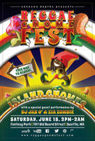REGGAE GNOME FEST: Print Flyer (Color: Twilight) by CauseThought