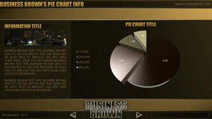 Business Brown - PowerPoint Template (Pie Chart) by CauseThought
