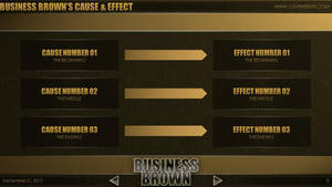 Business Brown - PowerPoint Template (C and E) by CauseThought