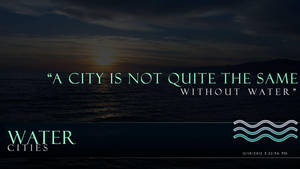 Water Cities - PowerPoint Template (Full Caption) by CauseThought