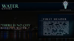 Water Cities - PowerPoint (Caption Info) by CauseThought