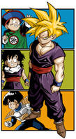 Gohan Progression by penandpaper64