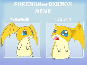 Pokemon-Digimon Meme: Patamon by MiniDragonfly