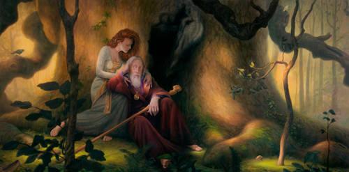 Merlin and Vivien by allendouglasstudio