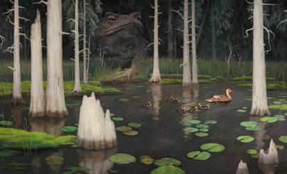 Lunker Pond by allendouglasstudio