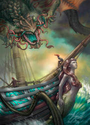 Empire of the Waves - Voyage of the Moon Child by allendouglasstudio