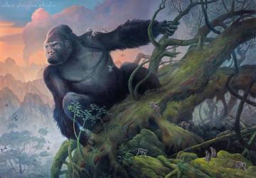 Kong by allendouglasstudio