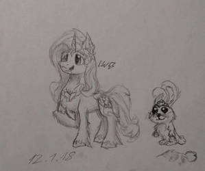 G5 Fluttershy own design by LW9510