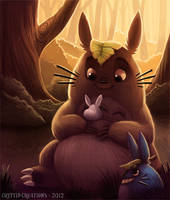 Daily 3 - Totoro by Cryptid-Creations