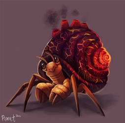 Day 2 - Lava Crab by Cryptid-Creations