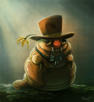 DAY 19. Mort the Maggot (40 Minutes) by Cryptid-Creations