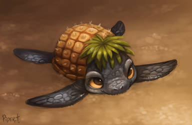 DAY 72. Pineapple Turtle (30 Minutes) by Cryptid-Creations