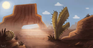 DAY 94. Geometrical Desert (30 Minutes) by Cryptid-Creations