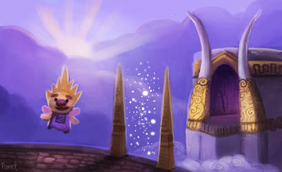 DAY 143. Spyro - Cloud Spires (35 Minutes) by Cryptid-Creations