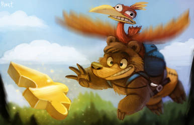 DAY 183. Banjo and Kazooie (35 Minutes) by Cryptid-Creations