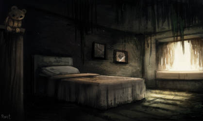 DAY 210. Abandoned Bedroom (35 Minutes) by Cryptid-Creations