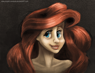 DAY 242. Creepy as HELL Ariel by Cryptid-Creations