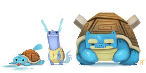 DAY 438. Squirtle Line by Cryptid-Creations
