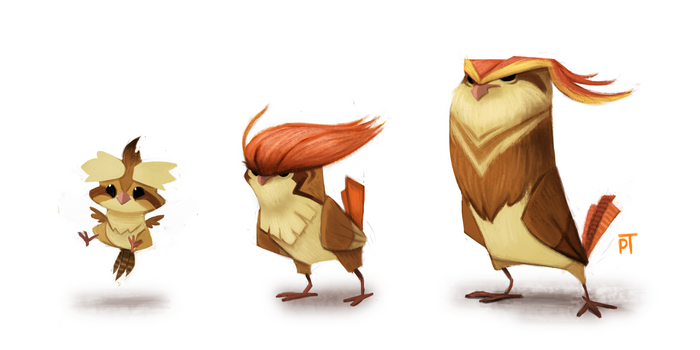 DAY 442. Kanto 016 - 017 - 018 by Cryptid-Creations