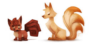 DAY 451. Kanto 037 - 038 by Cryptid-Creations
