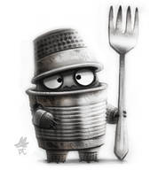 Daily Paint #641. SketchDailies - TinMan by Cryptid-Creations