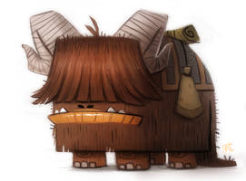Daily Paint #715. Star Wars - Bantha Doodle by Cryptid-Creations