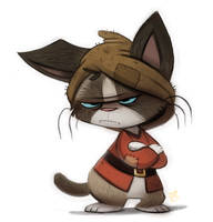 Day 741# @Sketch_Dailies - Grumpy Cat Drawf by Cryptid-Creations