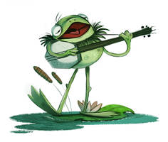 Daily Painting 743# - #KERMIT by Cryptid-Creations