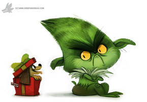 Daily Painting 763. #TheGrinch by Cryptid-Creations