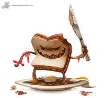 Day 793. Evil Sandwich by Cryptid-Creations