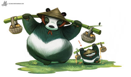 Day 832. Pandas by Cryptid-Creations