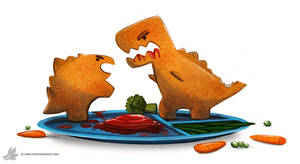 Day 853# Dinosaur Nuggets by Cryptid-Creations