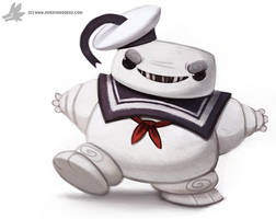 Daily Painting 879. Stay Puft Man by Cryptid-Creations