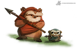 Daily Painting 895# May the Fourth be with you :D by Cryptid-Creations