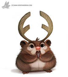 Daily Painting 901# Hamsterlope by Cryptid-Creations